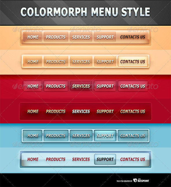 GraphicRiver ColorMorph Navigation Menu Styles 5633339