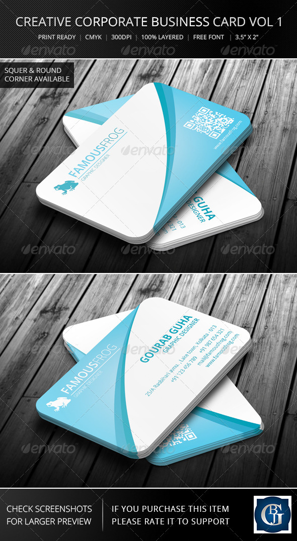 Creative Corporate Business Card Vol 1 - Corporate Business Cards
