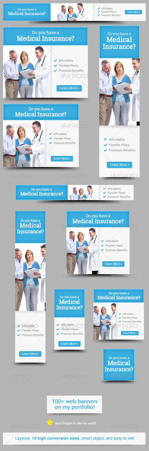 GraphicRiver Medical Insurance Web Banner Design 5767479