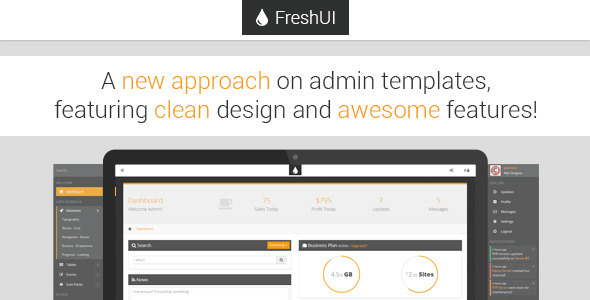 ThemeForest FreshUI Premium Web App and Admin Template 5767608