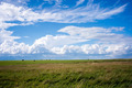 Green field. Blue Sky. Haystack - PhotoDune Item for Sale