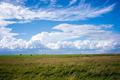 Green field. Blue Sky. Haystack - PhotoDune Item for Sale