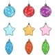 Vector Set of Christmas Decorations - Balls, Stars - GraphicRiver Item for Sale