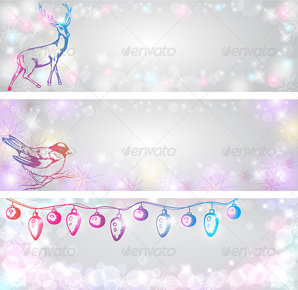 GraphicRiver Shining Christmas Backgrounds 5767966