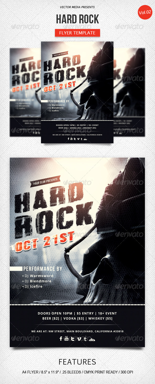 GraphicRiver Hard Rock Flyer [Vol.2] 5768295