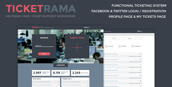 Ticketrama - Helpdesk | Wiki Ticket Support WP - Software Technology