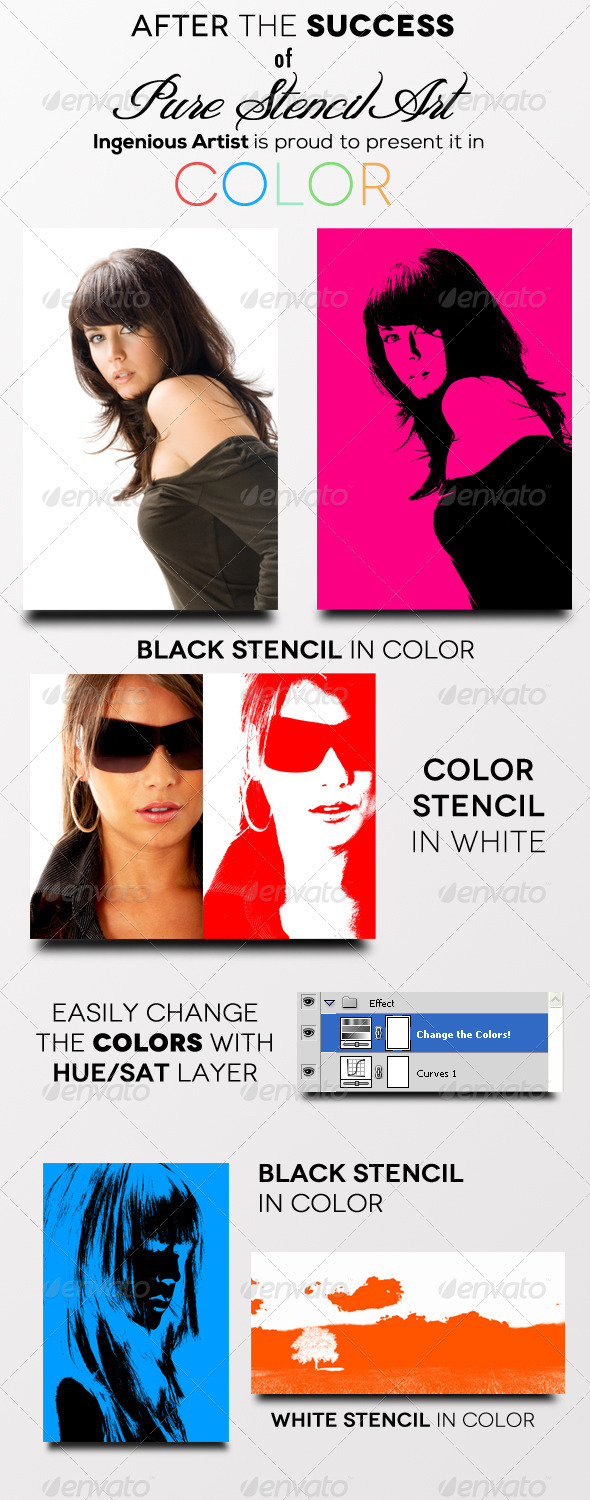 GraphicRiver Pure Stencil Art Actions V2 Color 5768489