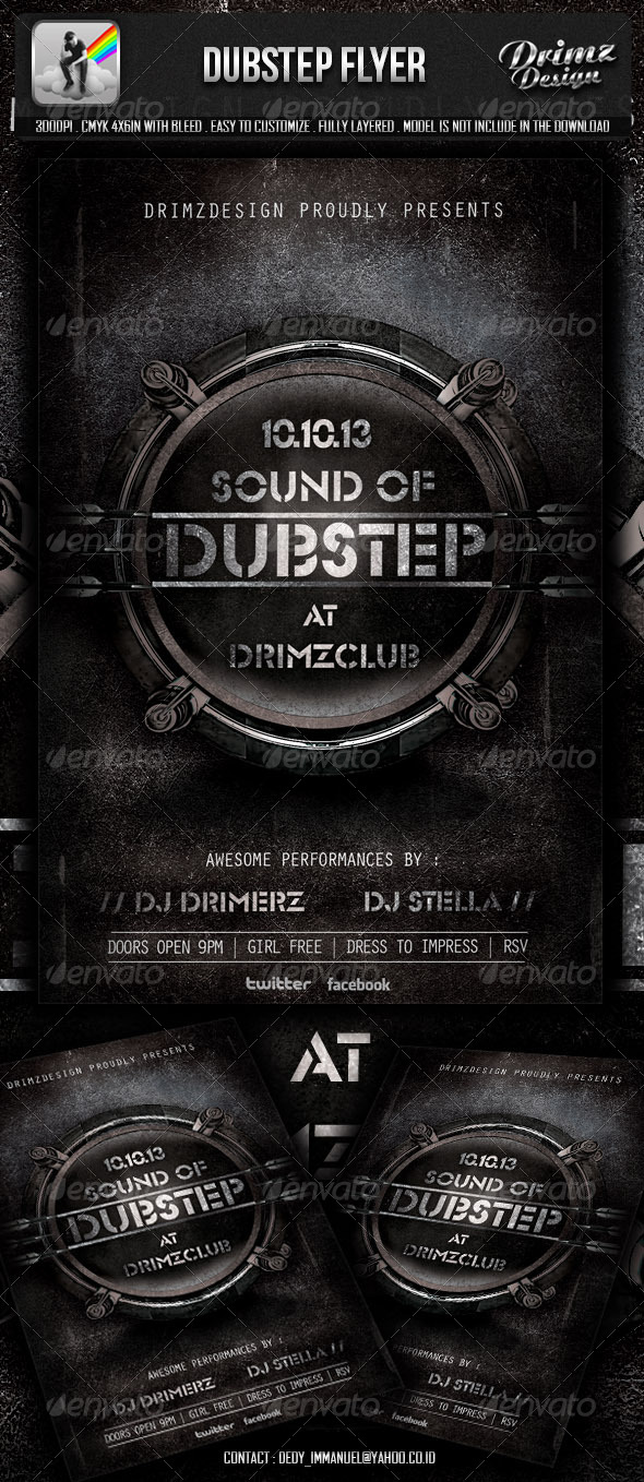 GraphicRiver Dubstep Flyer 5768770