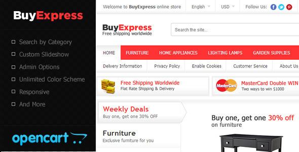 ThemeForest BuyExpress OpenCart Theme 5770072