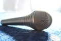 Microphone on Fabric - PhotoDune Item for Sale