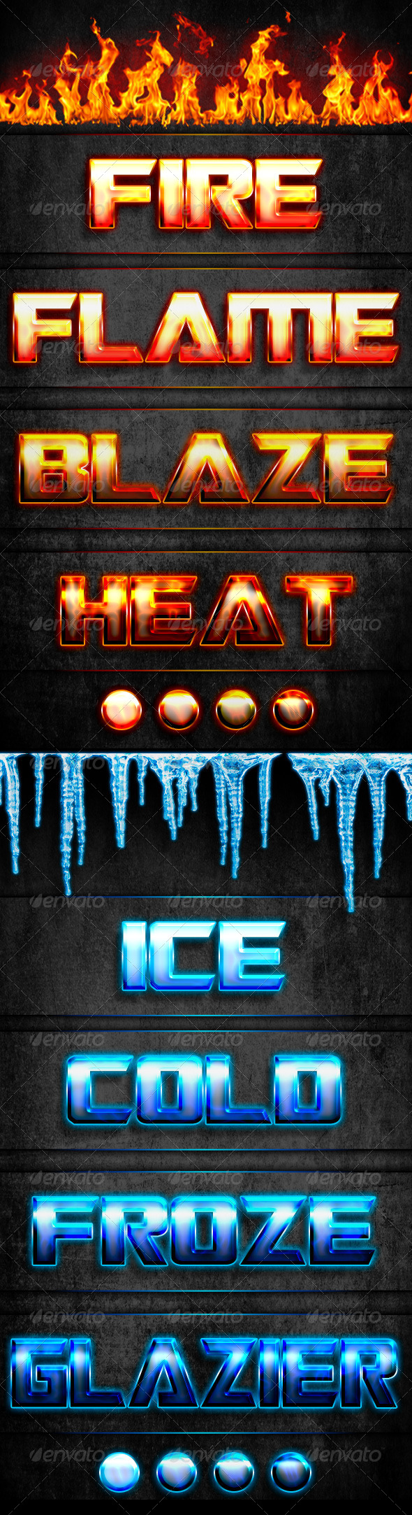 GraphicRiver Fire & Ice Styles 5770458