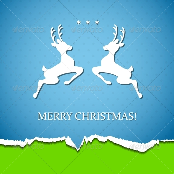 GraphicRiver Holiday Background with Deer 5770529