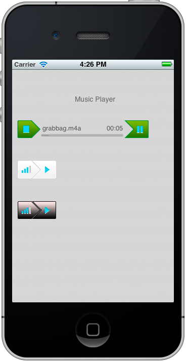 iPhone AudioPlayer Controller