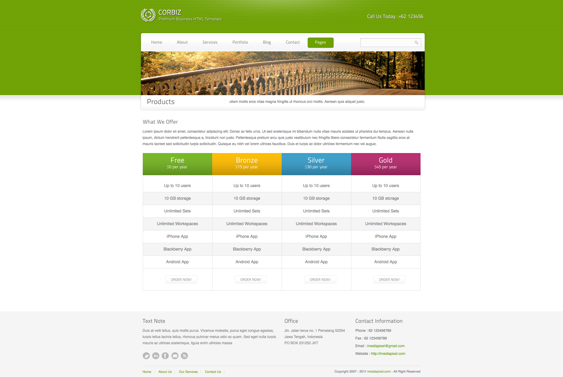 corbiz - Corporate and Business HTML Template