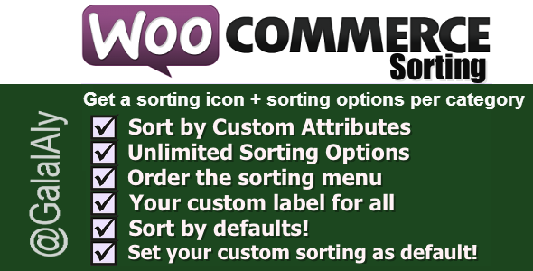Sorting WooCommerce Pro - CodeCanyon Item for Sale