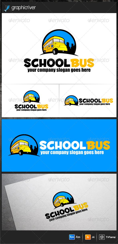 GraphicRiver School Bus Logo Templates 5771792