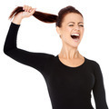 Woman fed up with long hair screaming - PhotoDune Item for Sale