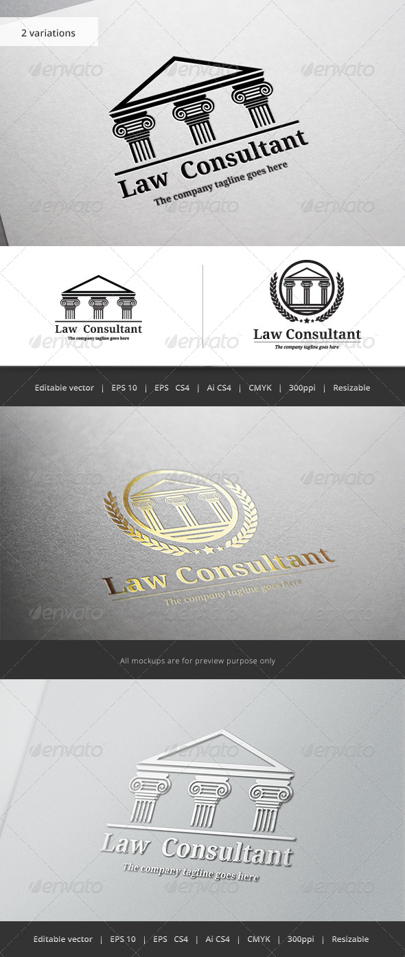 GraphicRiver Law Consultant V2 Logo 5771868