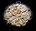 Fried mussel pancakes in hot plate, Thai traditional. - PhotoDune Item for Sale