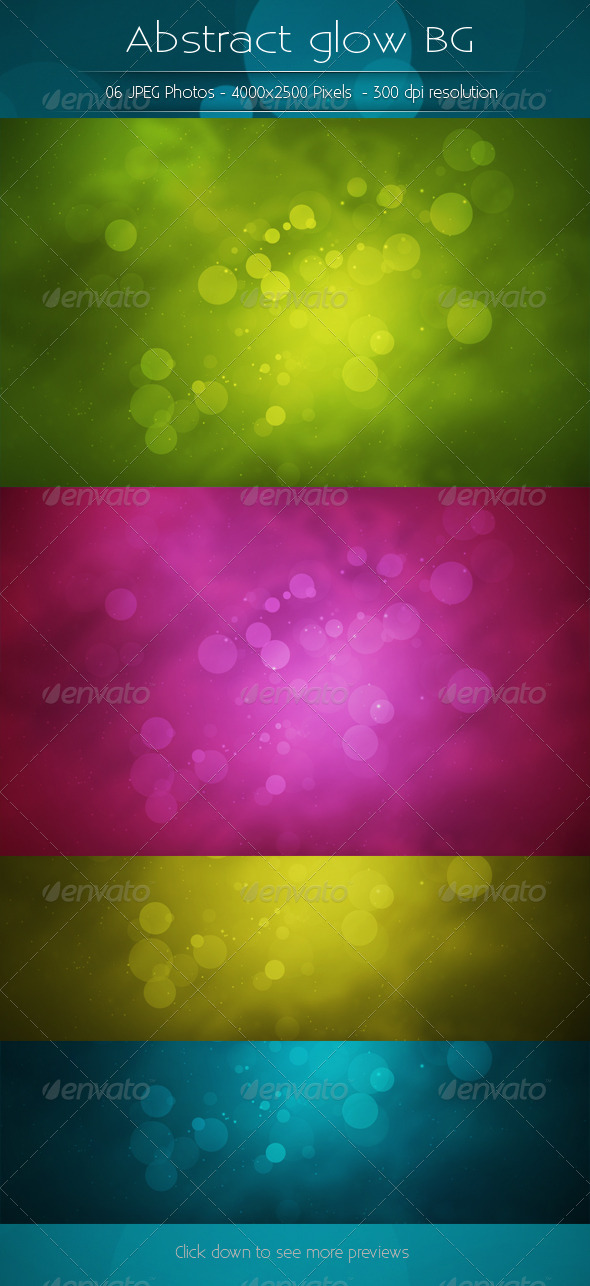GraphicRiver Abstract Glow Backgrounds 5773442