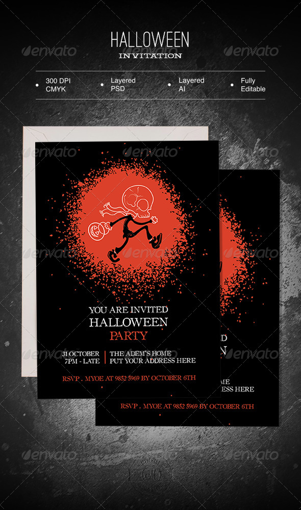 GraphicRiver Halloween Invitation 5773496