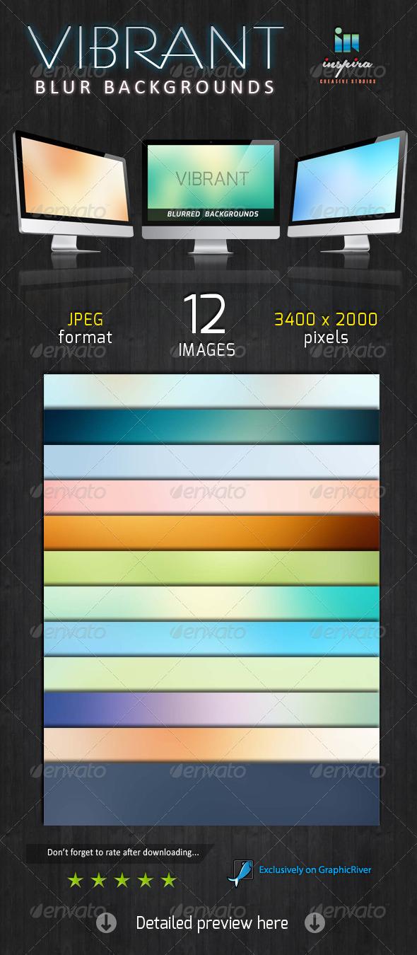 GraphicRiver 12 Vibrant Blur Backgrounds 5732567