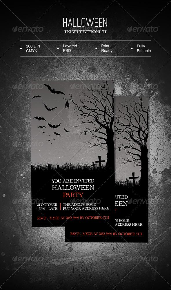 GraphicRiver Halloween Invitation II 5774501