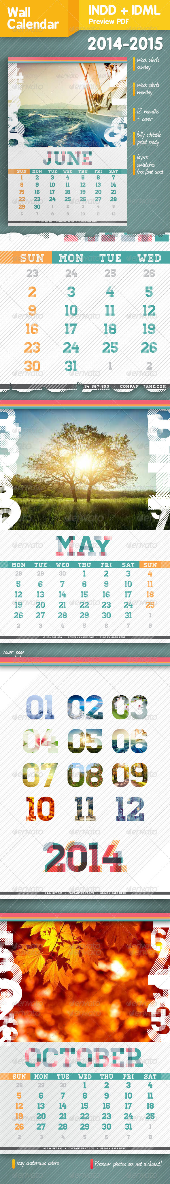 GraphicRiver Wall Calendar A3 2014-2015 5724031