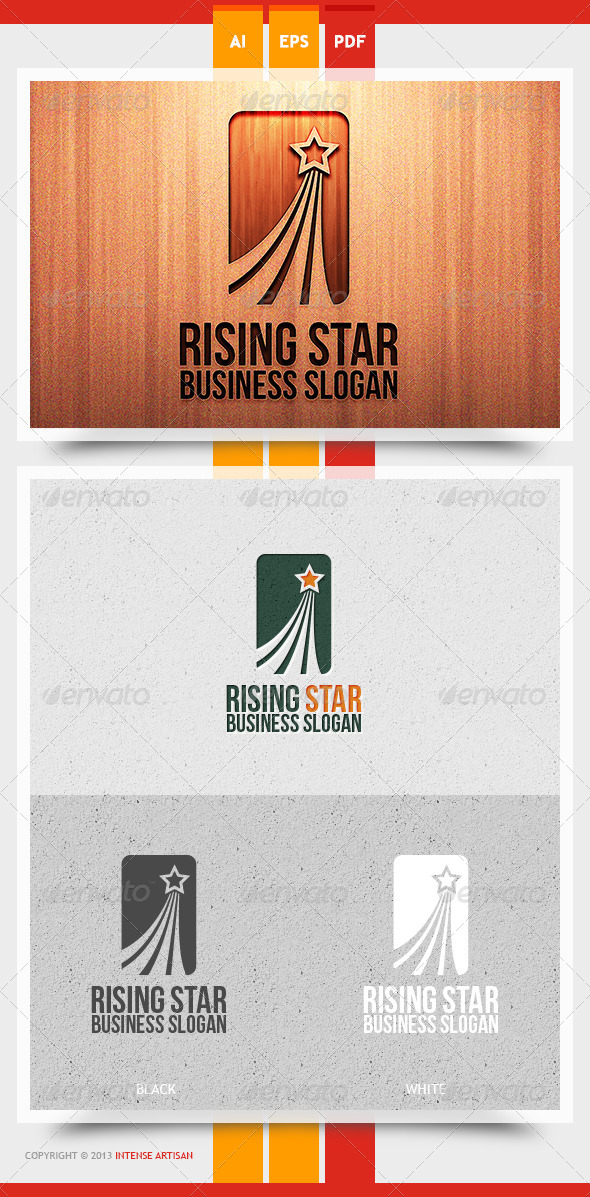 GraphicRiver Rising Star Logo Template 5774613