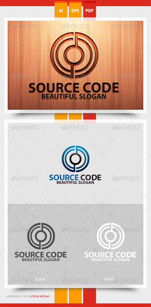 GraphicRiver Source Code Logo Template 5775055