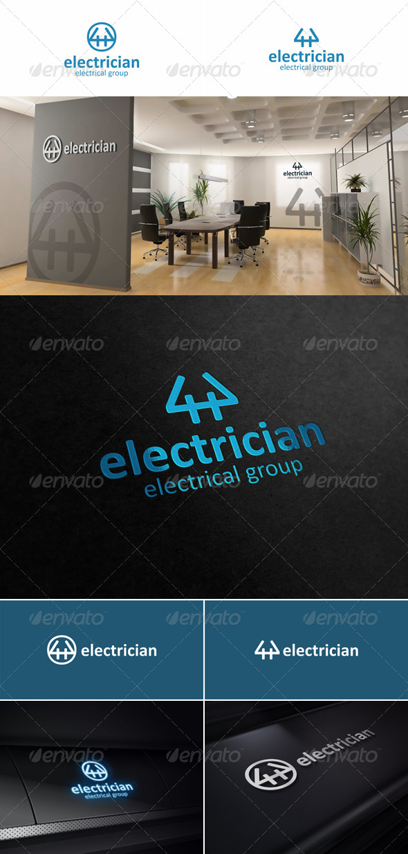 GraphicRiver Electrician Creative Logo 5775437