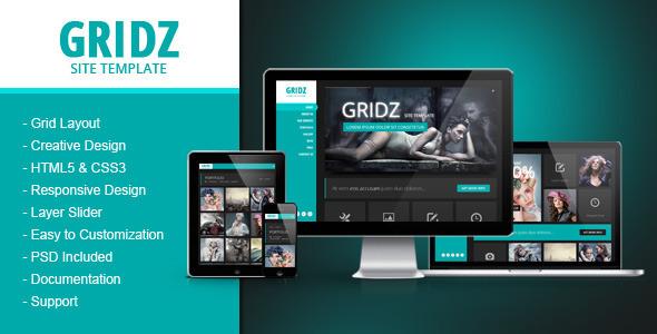 Gridz – Responsive HTML5 Template (Creative) images