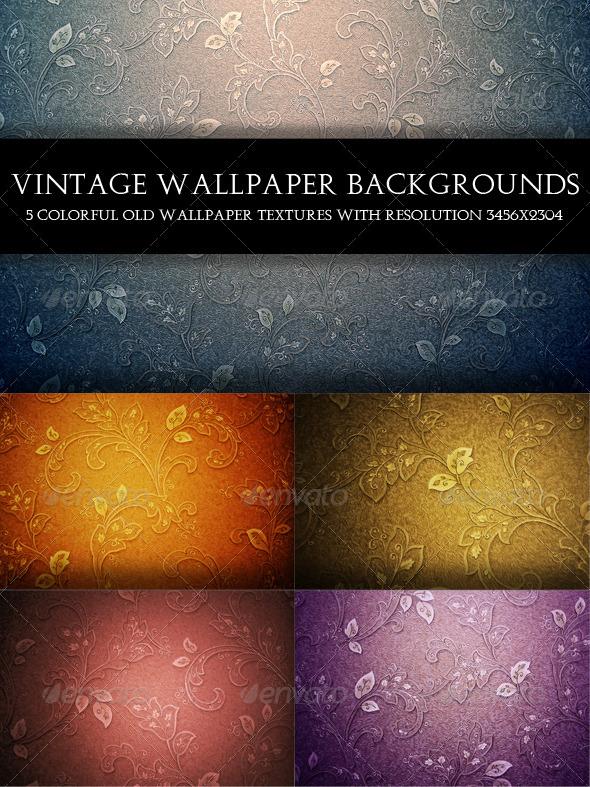 GraphicRiver Vintage Wallpaper Backgrounds 5775634