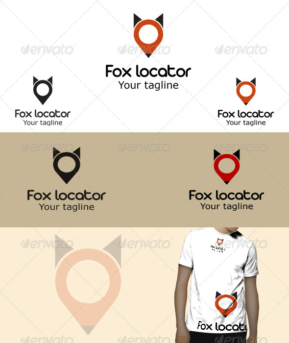 GraphicRiver Fox Locator Logo 5775665