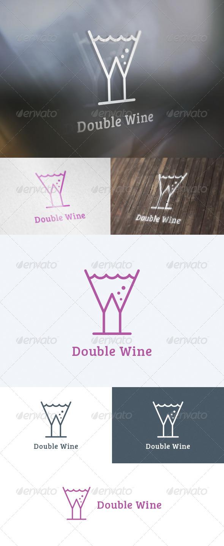 GraphicRiver Double Wine Logo 5739547