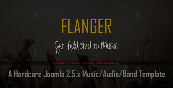 ThemeForest FLANGER Responsive Joomla Music & Bands Template 5776033