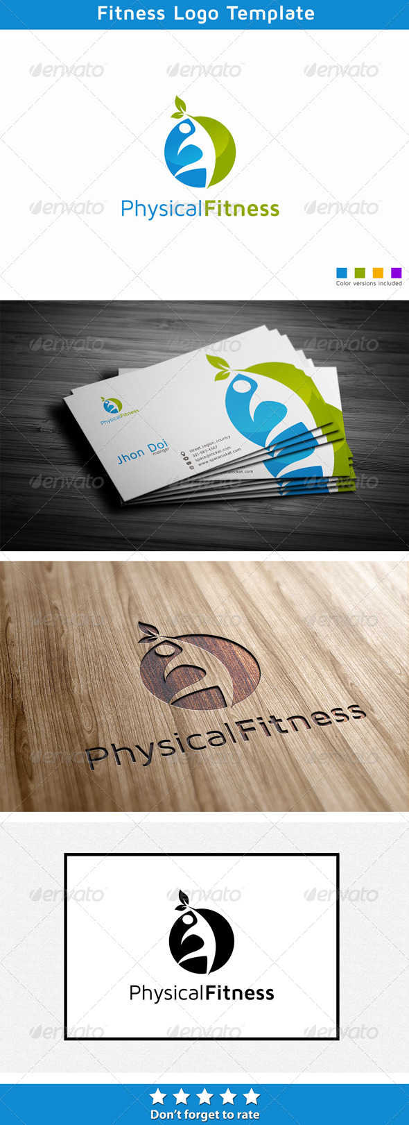 Physical Fitness  - Humans Logo Templates