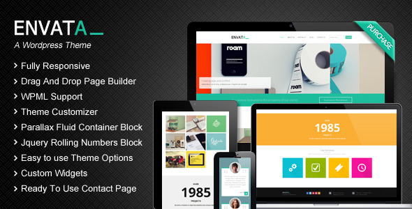 ThemeForest Envata Responsive WordPress CMS Theme 5776151