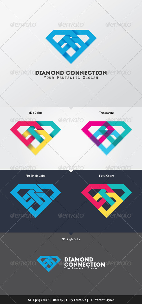 Diamond Connection Logo Template - Objects Logo Templates