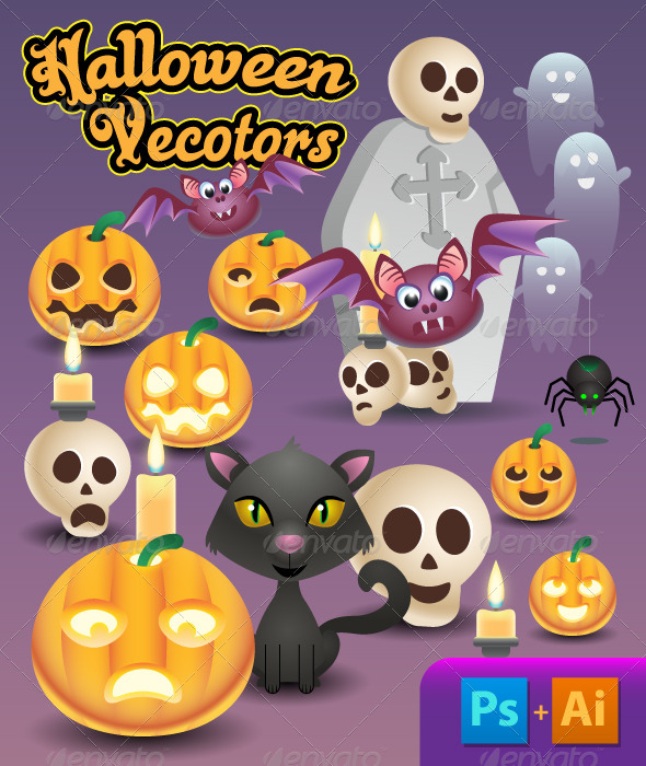 GraphicRiver Halloween Vectors 5759603