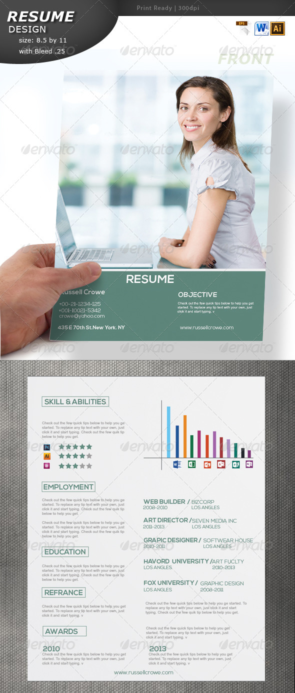 GraphicRiver Resume Design 5779142