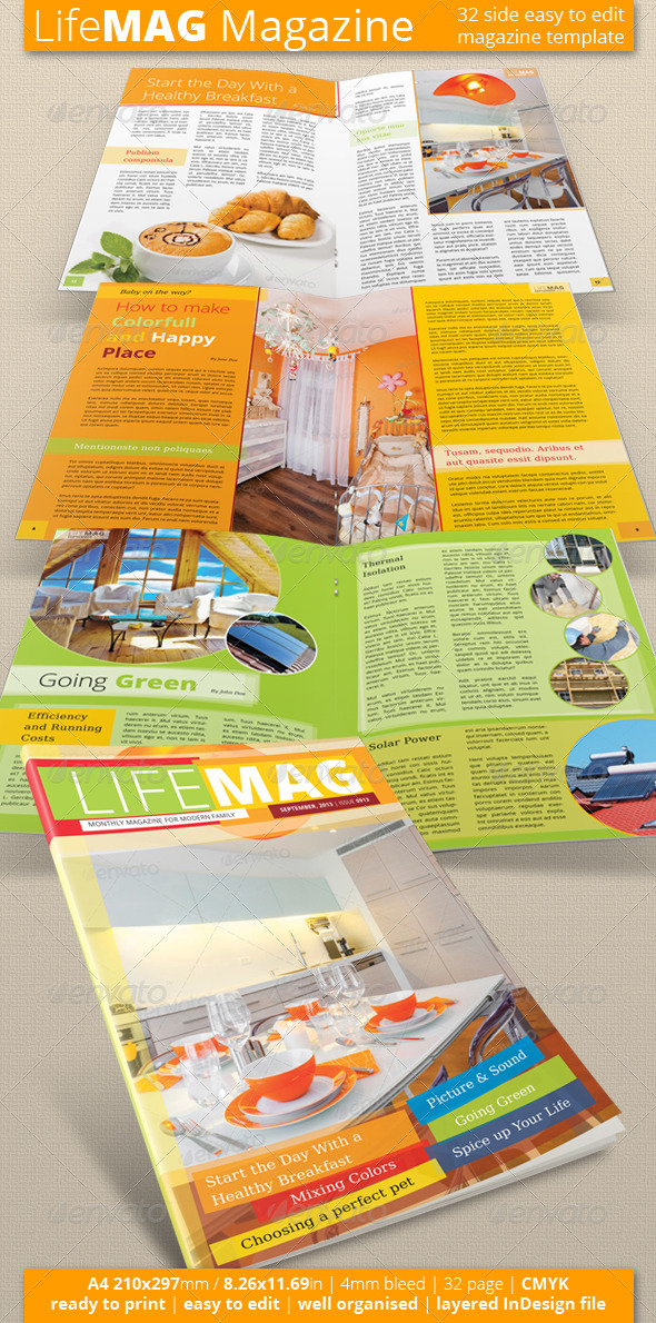 Multipurpose Magazine Template (Vol. 1) - Magazines Print Templates