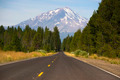 California Highway Heads Toward Mountain Landscape Mt Shasta Cascades - PhotoDune Item for Sale