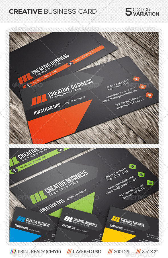 GraphicRiver Creative Business Card Design 5780620