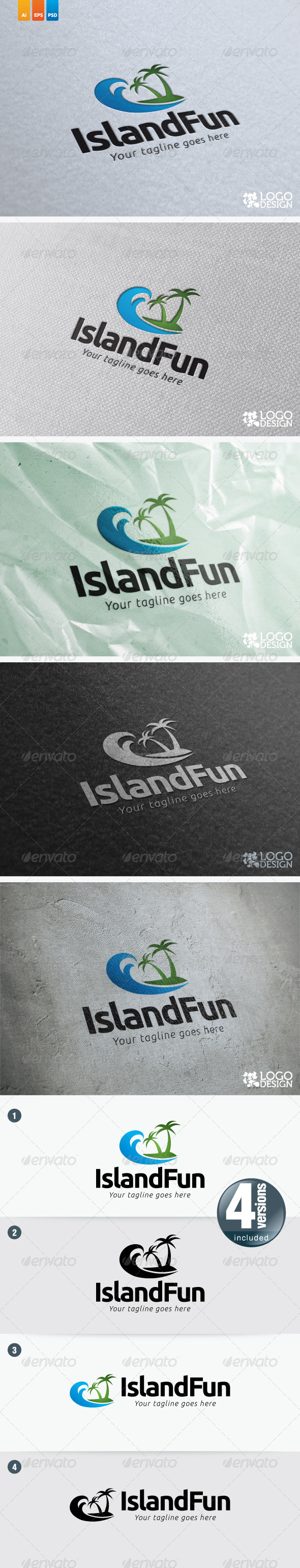 Island Fun - Nature Logo Templates