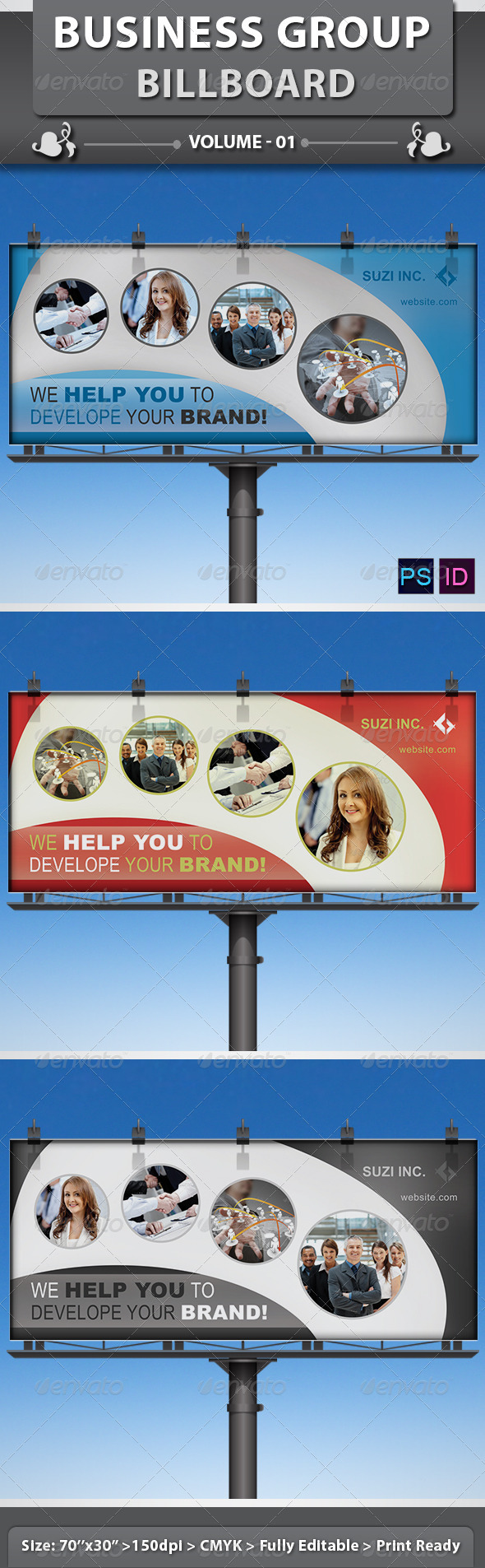 GraphicRiver Business Group Billboard v1 5781840