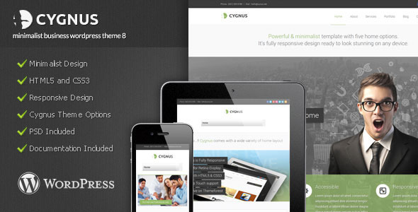 Cygnus - Minimalist Business Wordpress Theme 8 - Corporate WordPress