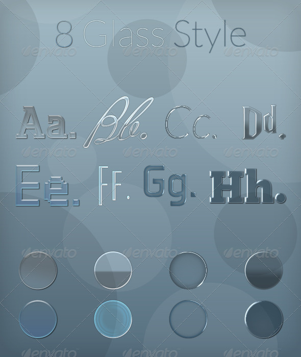 GraphicRiver Glass Styles & Text Effects 5785640
