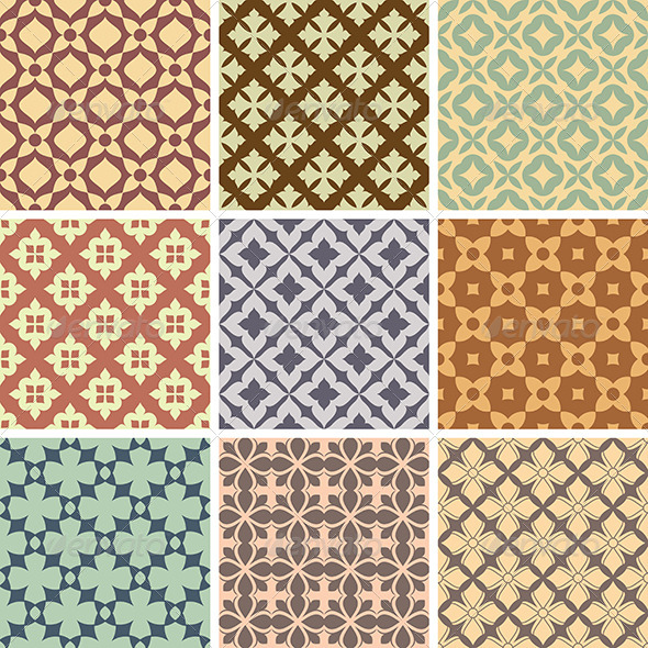 GraphicRiver Abstract Vector Patterns 5785947