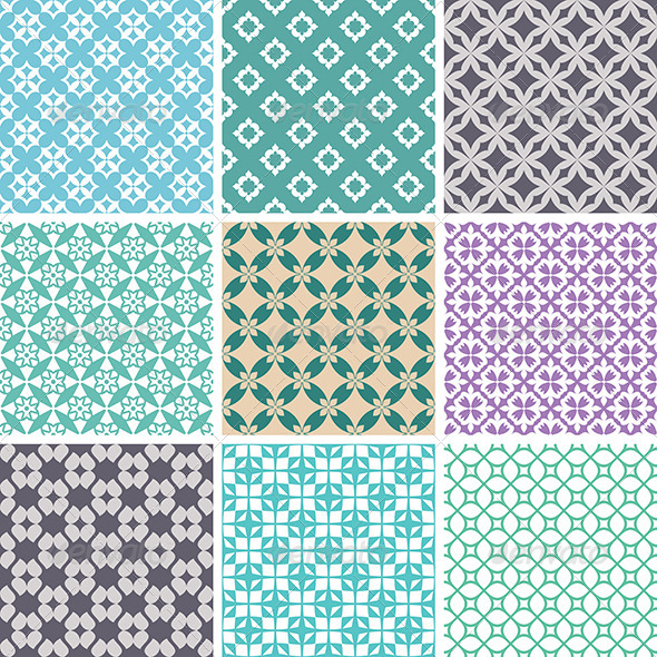 GraphicRiver Abstract Vector Patterns 5786009